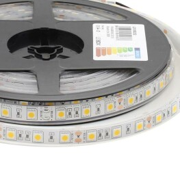 Tira LED HQ SMD5050, DC12V, 5m (60Led/m) - IP68, Blanco cálido