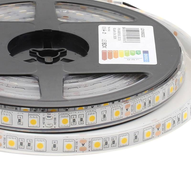 Tira LED HQ SMD5050, DC12V, 5m (60Led/m) - IP68